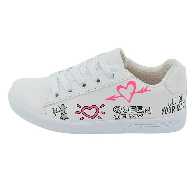 Sneakers Blanco Con Detalle Multicolor 014724