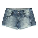 Short Jeans com bordado Crawling