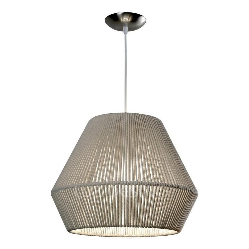 Colgante Hilo Natural 40cm Para 1 Luz Apto Led Luz Desing
