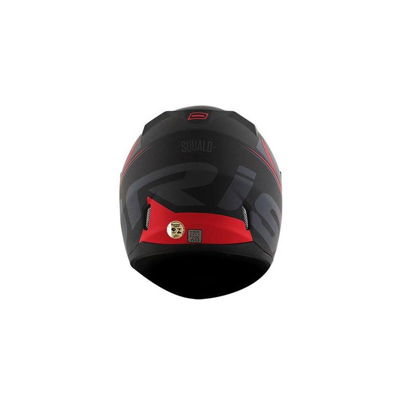 Capacete Norisk FF391 Squalo Vermelho Fosco Com Viseira Fumê