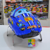 globo caminante auto azul inflado con helio
