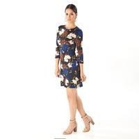 Vestido azul estampado 015419