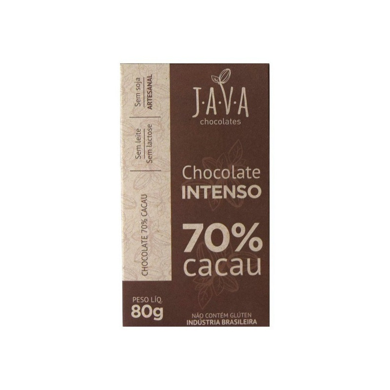 Chocolate Intenso 70% Cacau - 80g - Java