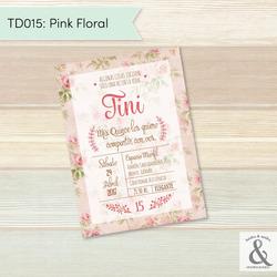 Invitación digital TD015 (Pink...