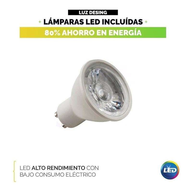 Plafon 1 Luz Con Led 7w Antideslumbrante Acero Movil
