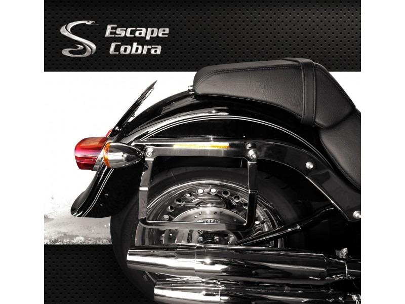 Afastador Alforge Lateral Cromado Harley Softail Escape Cobr