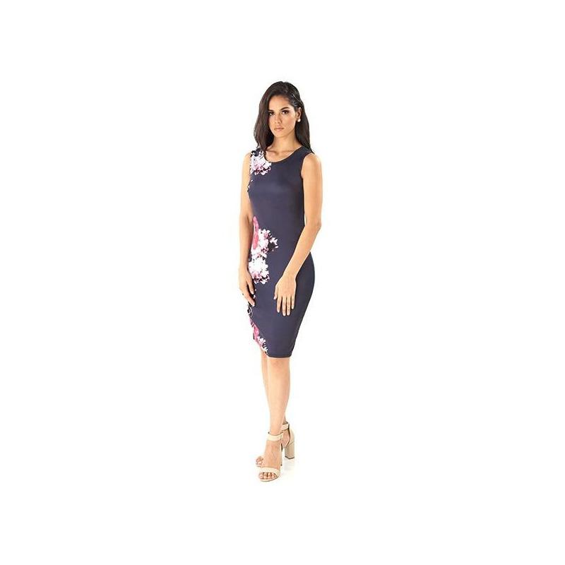 Vestido marino estampado 014518P