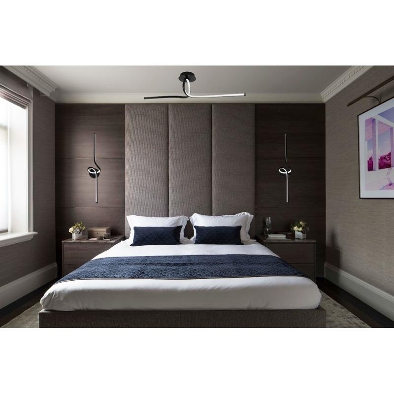 Aplique Plafon Led Sugus 24w Negro Diseño Deco Moderno Cie