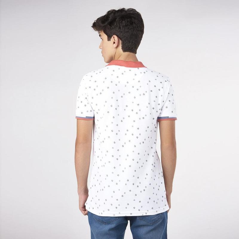Camisa Blanca Con Puntos 019302