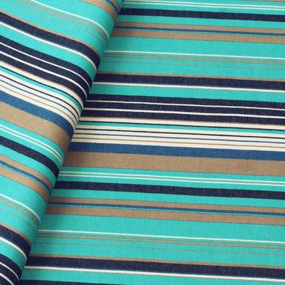 Tecido sarja listrada azul Coleção Vicenzza