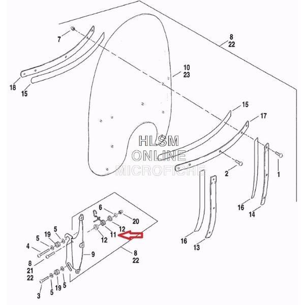 Trava Parabrisa Harley Heritage Lado Direito - 58253-95