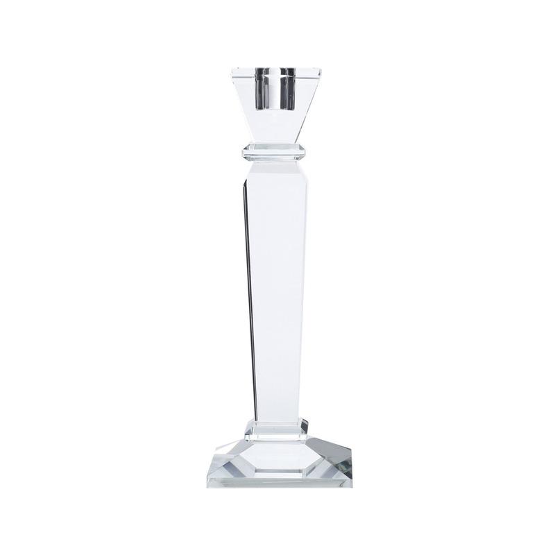 Castiçal de Vidro Óptico Round de sign 23 Cm - Prestige 3103356