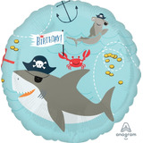 globo tiburon pirata 45cm sin inflar apto helio/aire