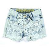 Shorts Jeans com renda Puramania