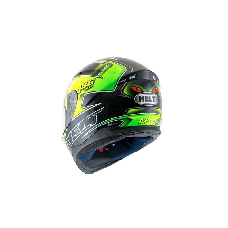 Capacete Helt New Race Dazzi Amarelo Verde