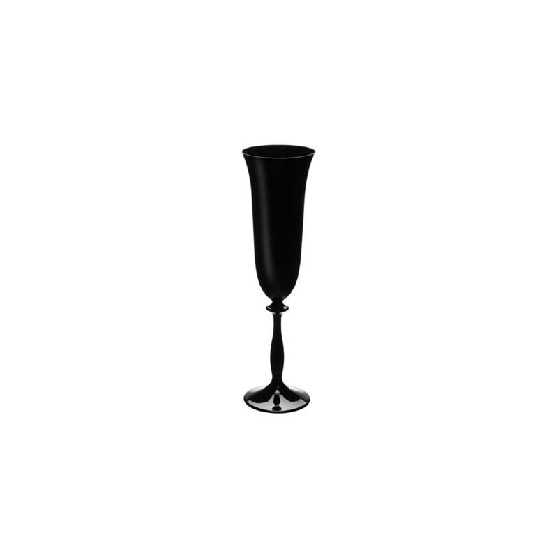 Jogo 06 Taças Cristal Champagne 190ml Preta - Bohemia 7556634