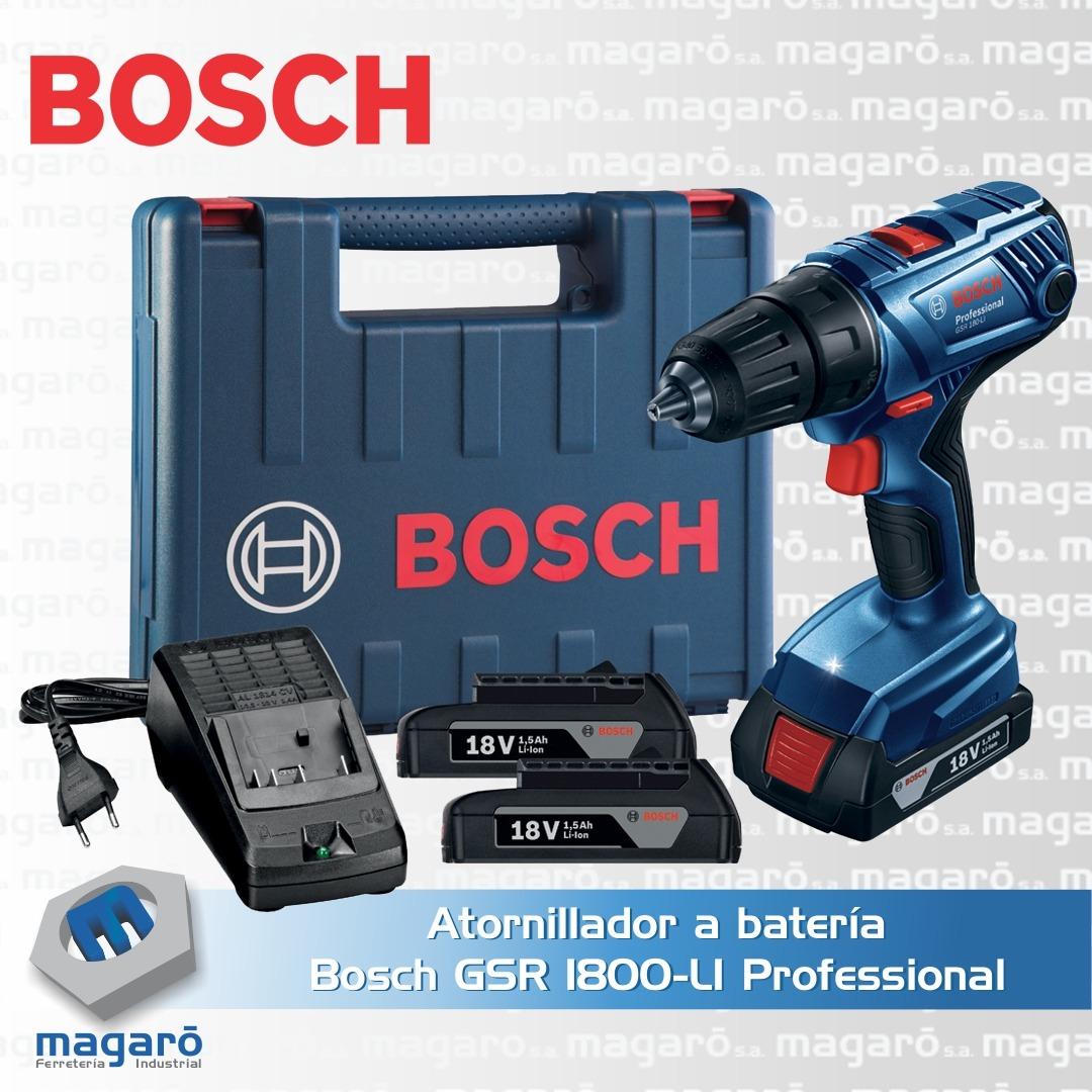 Atornillador a batería Bosch GSR 1800-LI Professional