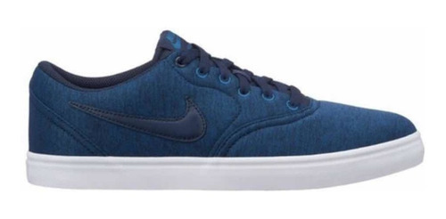 Zapatillas Nike Sb Check Solarsoft Lona Premium Azul