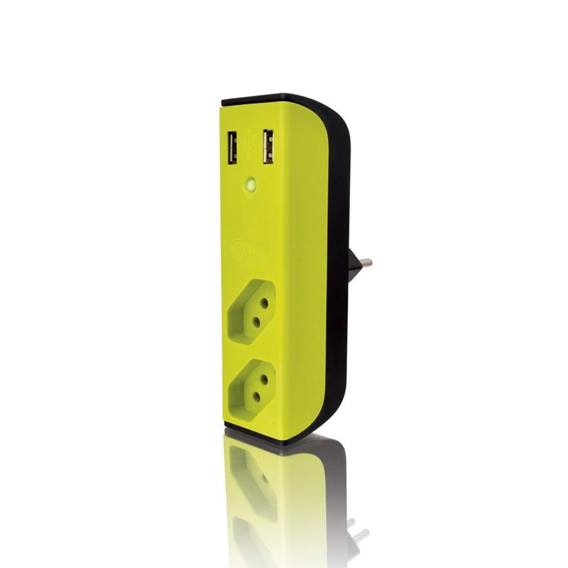 CARREGADOR USB COM FILTRO SEM HUB ENERMAX BEMLIGADO 25.02.111 VERDE