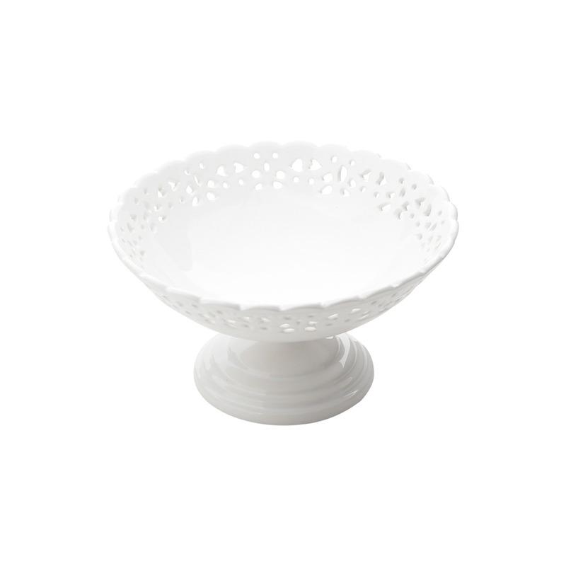 Fruteira Provençal Com Pé De Porcelana  31025012