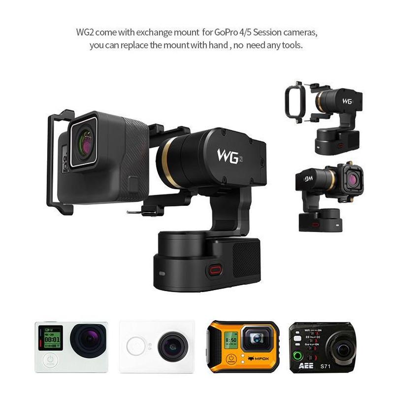 Gimbal Estabilizador de Sportcam/actioncam GoPro/Sony/ FeiyuTech WG2 a prova d'água