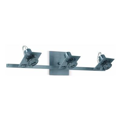 Aplique Pared Aluminio 3 Luces Gu10 220v Apto Led Deco