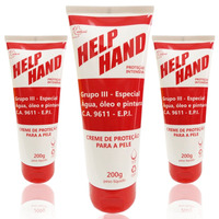 03 Creme de proteção para as mãos help hand grupo 3 200g