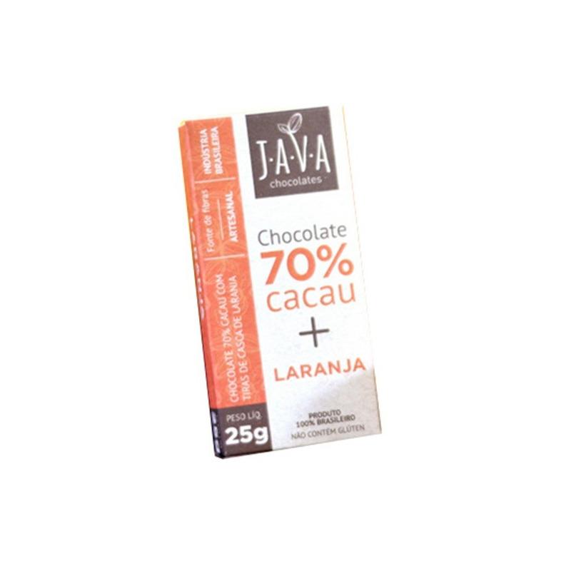 Chocolate de Laranja 70% Cacau - 25g - Java