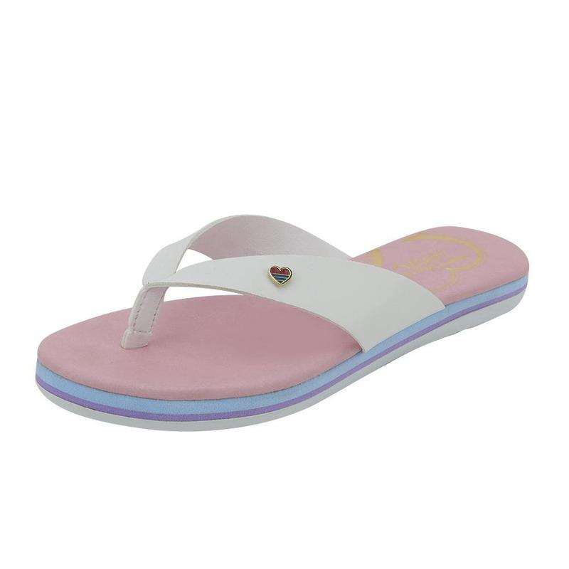 Sandalia De Piso Blanca Corazon Multicolor 020962