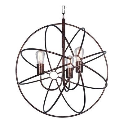 Colgante Atomo Jaula Araña 3 Luces Vintage Apto Led E27 Fz