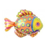 globo pez  colorido 35 cm sin inflar