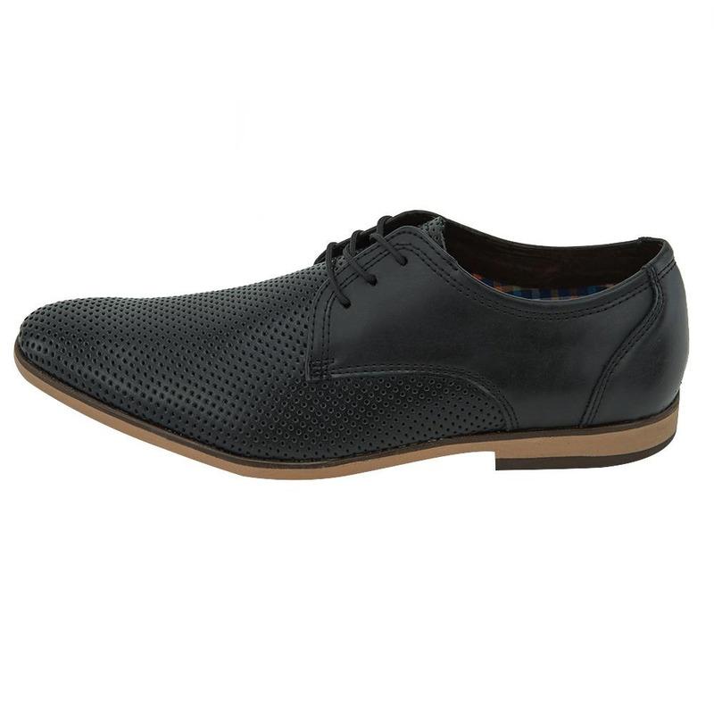 Zapato De Vestir Negro Con Textura 017581