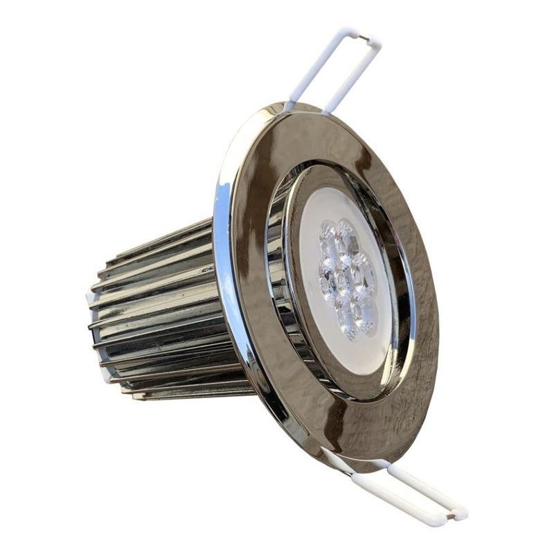 Spot Embutir Cromo 9w Led Movil Alta Potencia Iluminacion