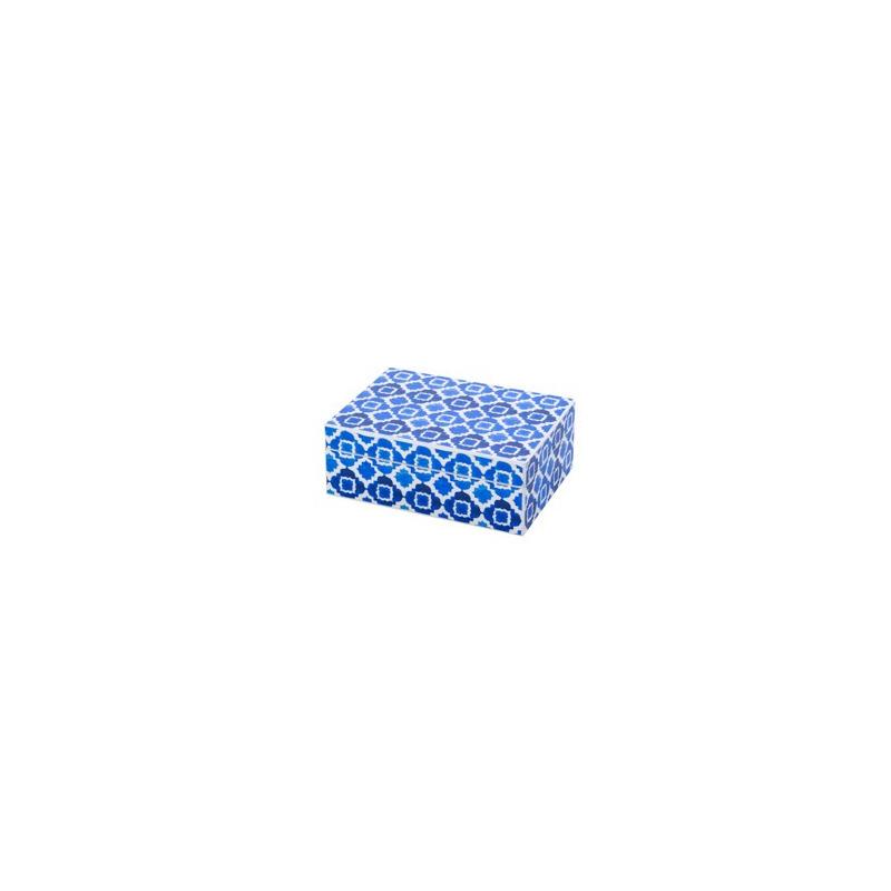 Caixa de corativa de Made ira Blue 20X14,5Cm 4103400