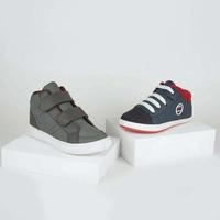 Combo sneakers gris y azul 018586