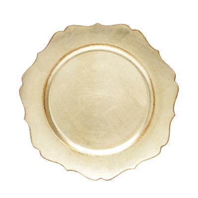 Jogo 06 Sousplat dourado Star  33cm - Lyor 4106685