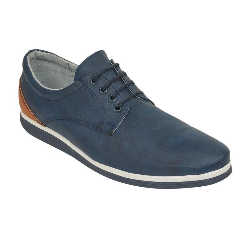 Zapato azul piel 018571