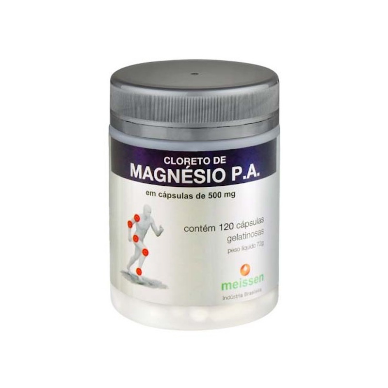 Cloreto de Magnesio P.A. - 120 capsulas 500mg - Meissen