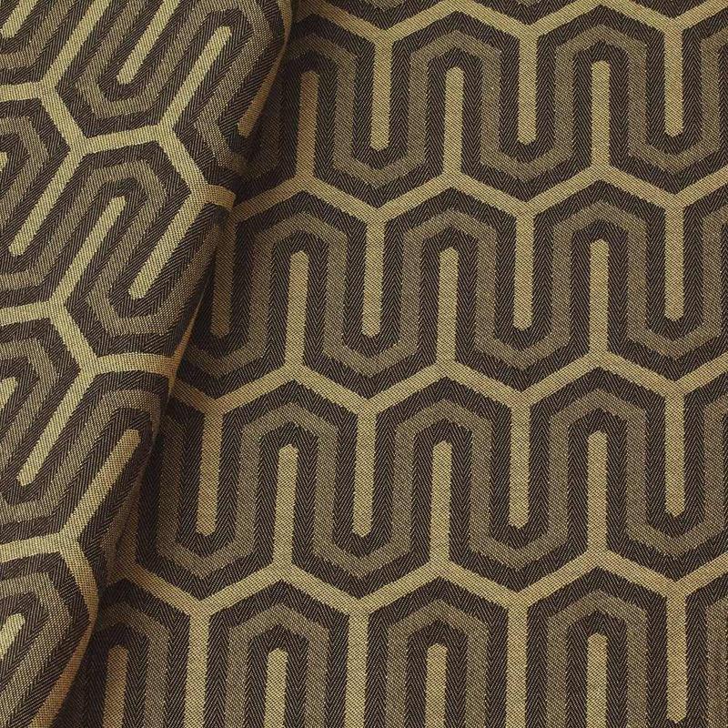 Tecido jacquard para almofada - marrom/caqui -  Impermeável - Coleção Panamá