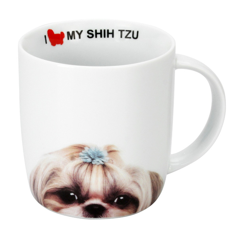 Caneca Porcelana 340ml I Love My Shih Tzu - Dynasty 7518526