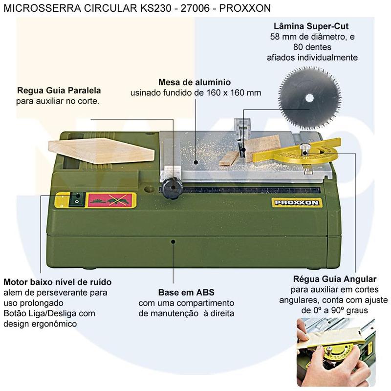 Microsserra Circular KS230 - 27006 - Proxxon - 220 Volts