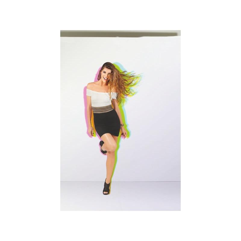 Vestido corto blanco y negro cintura café 010572