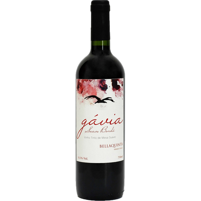Vinho Tinto Suave Bordô Gavia 750ml - Bella Quinta