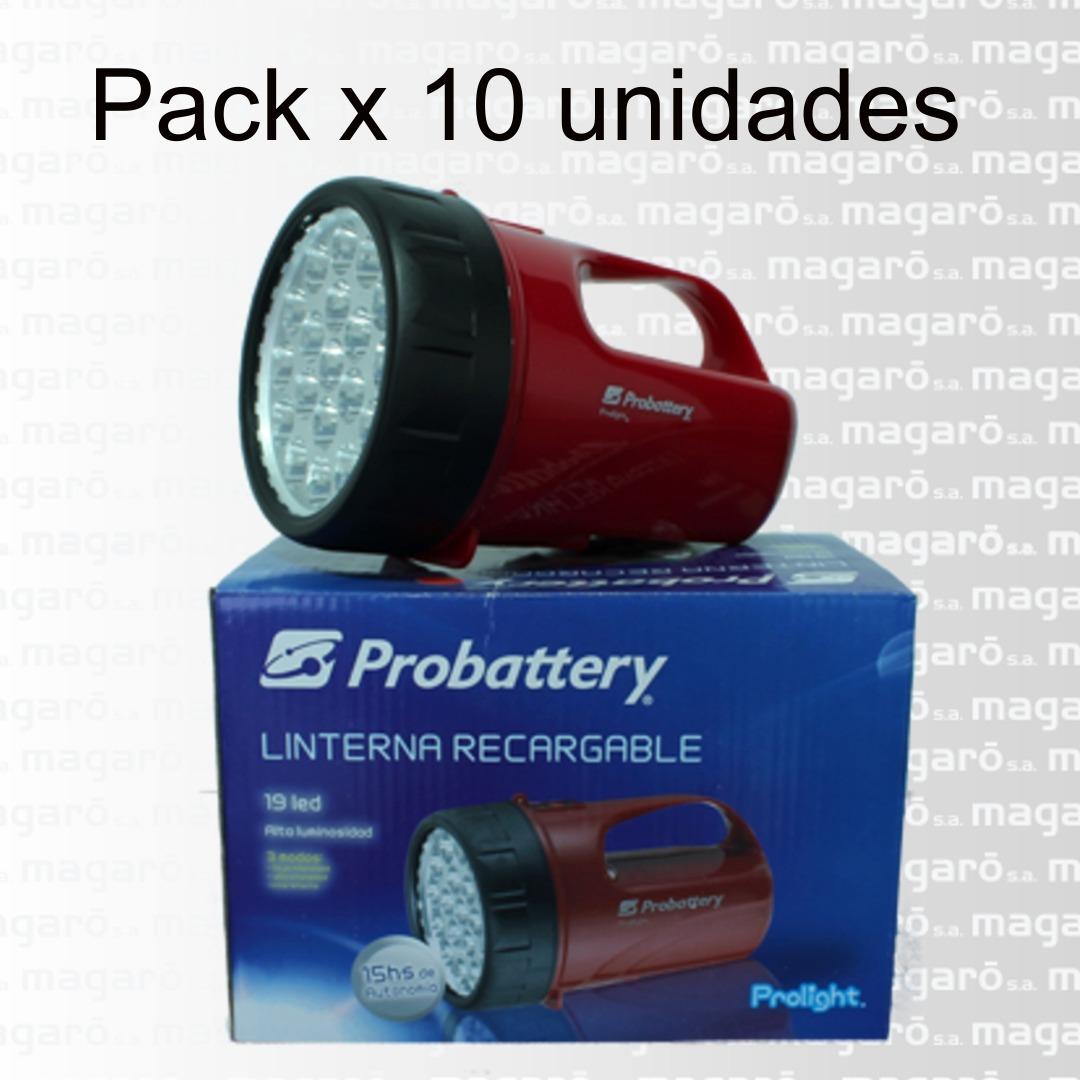 Linterna Recargable 19 Led Probattery X 10 U. Ilr-19l/900