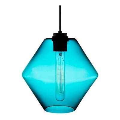 Colgante 1 Luz Trip Celeste Apto Led Vidrio Deco Moderno Cie