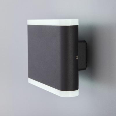 Bidireccional Aluminio Led 6w Akira Negro Moderno Chato