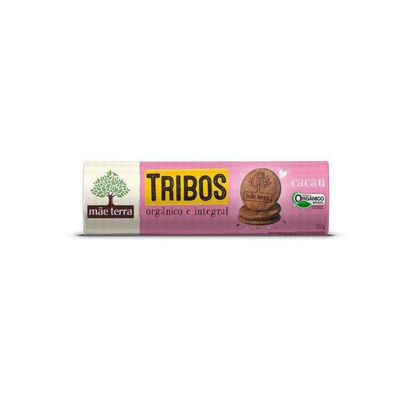 Biscoito Tribos Organico 130g Cacau - Mae Terra