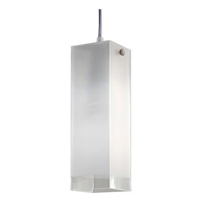 Colgante 1 Luz De Vidrio Cuadrado Apto Led E-27 Luz Desing