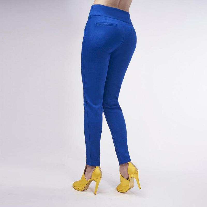 Pantalón Azul Liso 019459