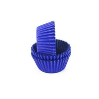Pacote 6 Formas de Silicone Muffins e Cupcakes Azul Fosi